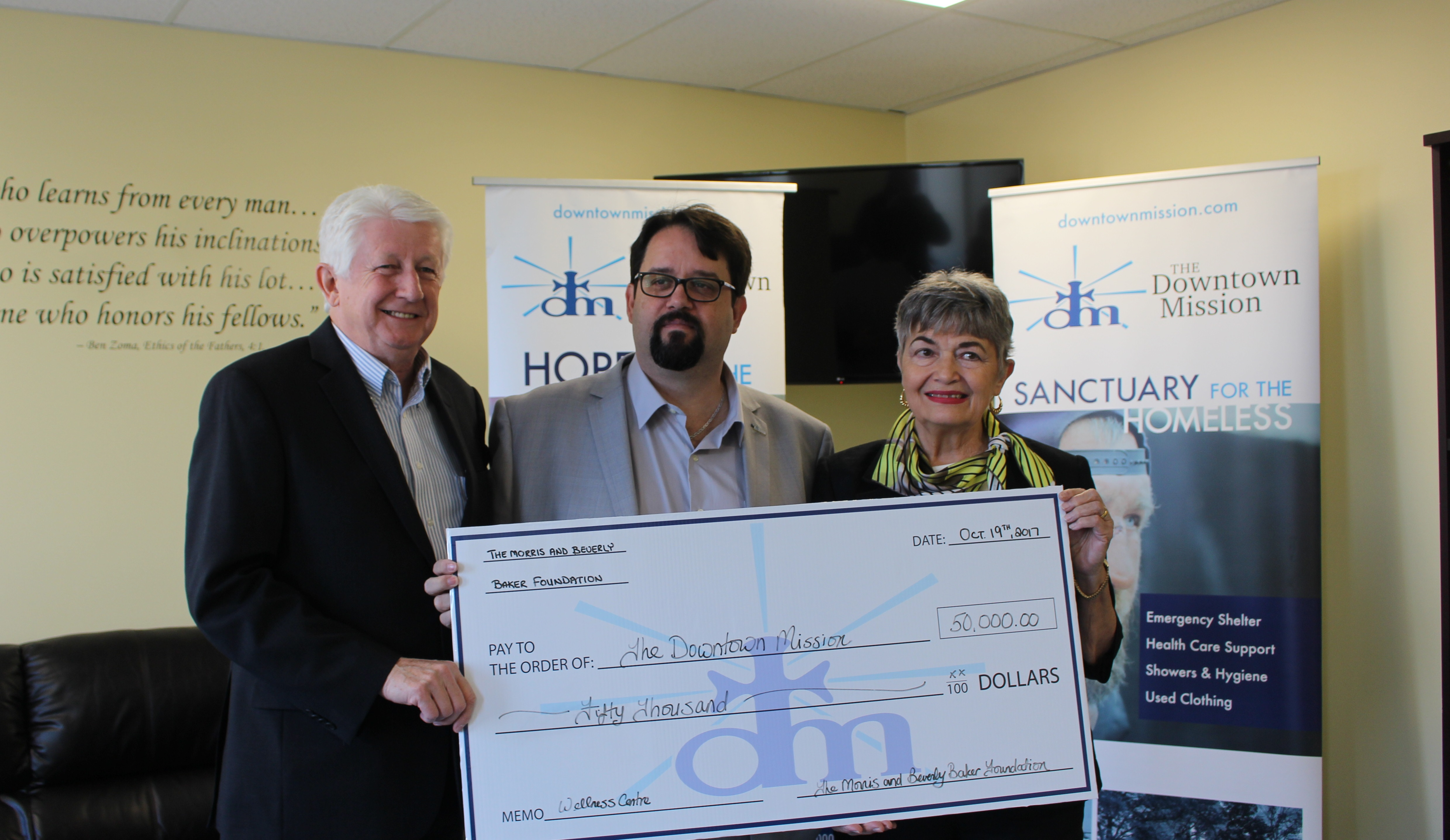 Mission Receives $50,000 Donation