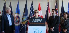 Premier Kathleen Wynne speaks at the conference of Great Lakes and St. Lawrence Governors and Premiers, October 16, 2017. (photo by Maureen Revait)