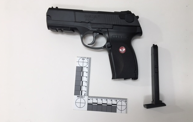 A pellet gun seized by police in St. Thomas. Photo courtesy of St. Thomas police.