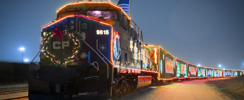 The CP Holiday Train. (Photo courtesy of CP Rail)