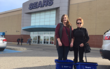 Jillian McBean of Brights Grove and Theresa Cameron of Sarnia took advantage of the first day of Sears liquidation sales. October 19 , 2017 Photo by Melanie Irwin.