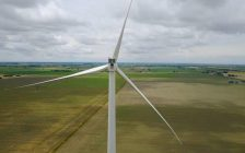 Belle river wind turbine. (Photo courtesy of Pattern Energy).