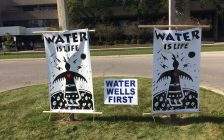 Water Wells First cannot continue unlawful protests at North Kent Wind sites. Oct 02, 2017. (Photo by Paul Pedro)