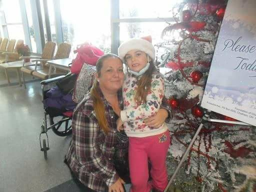 CK Operation Christmas Hospital. Pictured: Organizer Melissa Marie Chauvin with daughter. (Photo courtesy of Melissa Marie Chauvin.)