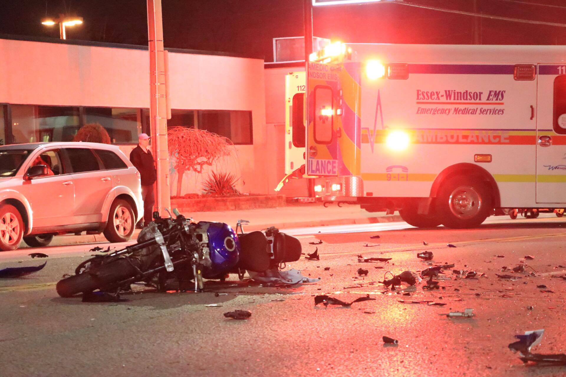 One Hospitalized After Motorcycle Crash (GALLERY)