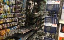 Minimal damage at Blenheim Canadian Tire Store because of automatic sprinkler system. Nov 24, 2017. (Photo courtesy of CKFES)