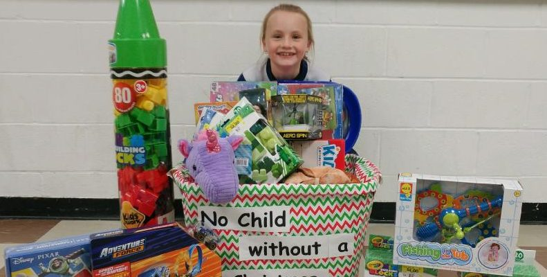 A Wallaceburg girl is spreading some holiday cheer to other boys and girls this Christmas. Nov 24, 2017. (Photo courtesy of Chatham Goodfellows)