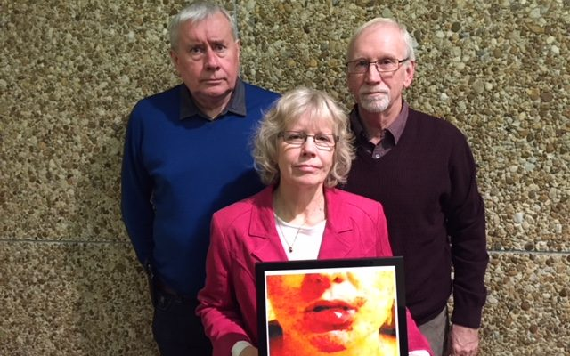 (Clockwise) Ontario Council of Hospital Unions President Michael Hurley, and University of Windsor researchers Jim Brophy and Margaret Keith reveal a report detailing violence against healthcare staff. November 30, 2017 (Photo by Melanie Irwin)