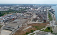 Aerial view of Imperial Sarnia's former lubricants, manufacturing, blending and packaging operation. (Photo courtesy of Imperial Sarnia.)