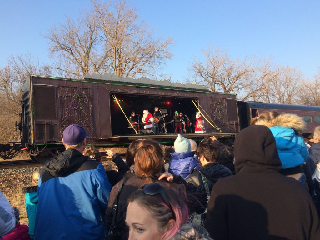 Colorful Canadian Pacific Holiday Train rolls through MI