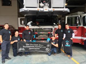 Chatham-Kent firefighters celebrate Movember. (Photo courtesy of Chatham-Kent Fire & Emergency Services).