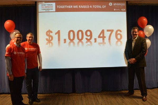 Union Gas announces its yearly donation for the United Way for 2017 (Photo courtesy of Union Gas)