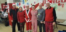 Jingle All The Way Run. Recipients of participation awards pictured from right to left: Tom Mountain, Dave Palmer, Brynelle Glover, Angelo Ligori, Julie De Meyer and Mark Childs. December 9, 2017. (Photo courtesy of Angelo Ligori).