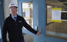 Lambton College Facilities Management Brent Thomas takes local media on a tour of new or newly renovated facilities on campus. December 15, 2017 (Photo by Melanie Irwin)