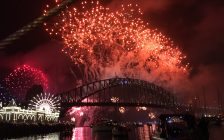 2018's arrival is welcomed with spectacular fireworks in Australia (BlackburnNews.com photo)
