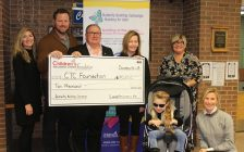 Lundy Insurance donates $10,000 to the Music Therapy Program at the Children's Treatment Centre Foundation. December 18, 2017. (Photo by Sarah Cowan Blackburn News Chatham-Kent).