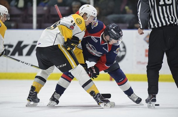 The Windsor Spitfires take on the Sarnia Sting, December 28, 2017. (Photo courtesy of Metcalfe Photography)