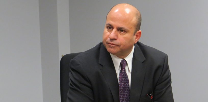 Vice-Chair of the London Police Services Board Michael Deeb at a special board meeting, December 21, 2017. (Photo by Miranda Chant, Blackburn News)