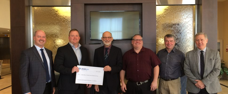 Union Gas has donated $5,000 to the United Way of Chatham-Kent to support its annual campaigns.(Photo courtesy of Union Gas).