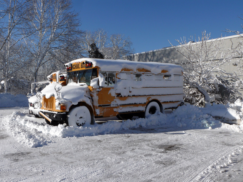 Snowy Conditions Force School Bus Cancellations
