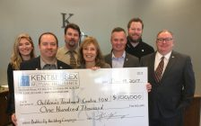 Kent & Essex Mutual Insurance donates $100,000 to CK Children's Treatment Centre Foundation. Dec. 14, 2017. (Photo by Paul Pedro)