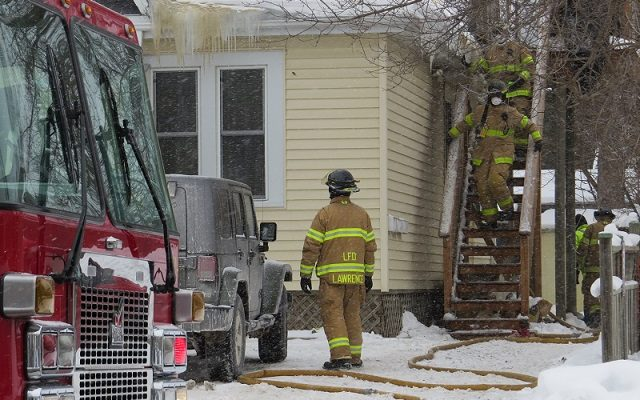 London firefighters battled a house fire at 762 Colborne St., January 3, 2018. (Photo by Miranda Chant, Blackburn News)