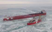 Photo used with permission by Jonathan Delisle, ECCC Ice Service Specialist aboard a Canadian Coast Guard helicopter on an ice reconnaissance mission.