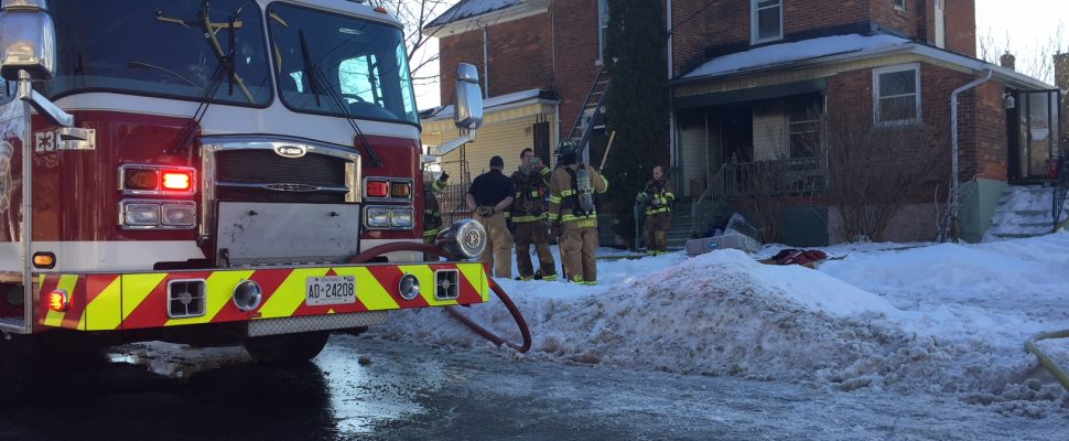 House Fire at Mitton and Devine Streets in Sarnia. Jan 9, 2018. (Photo by Melanie Irwin)