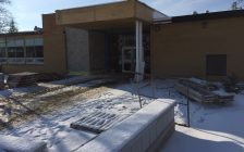 Plympton-Wyoming Public School construction. January 18, 2018 (Photo by Aaron Zimmer)