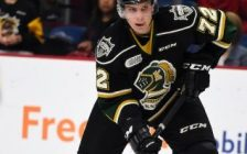 Alec Regula of the London Knights. (Photo courtesy of Aaron Bell via OHL Images)