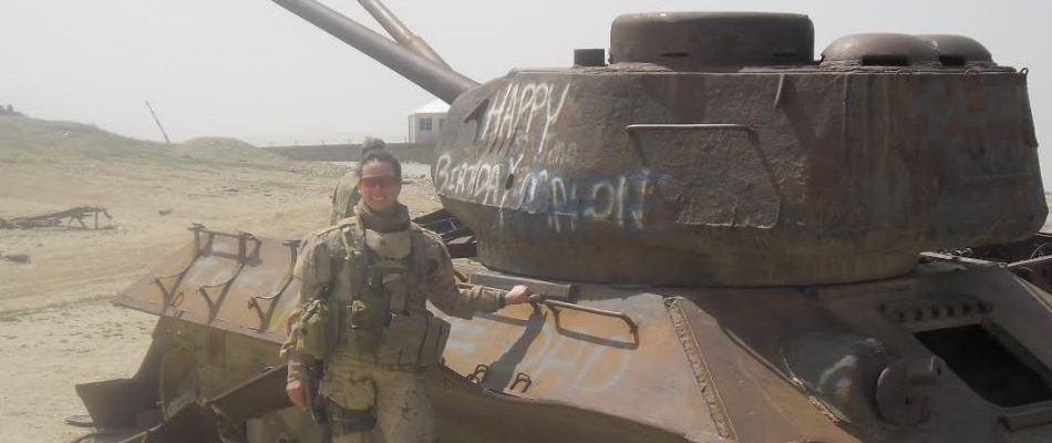 Major Catherine Wollocombe in Afghanistan. (Courtesy of the Canadian Armed Forces)