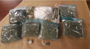 Marijuana, cocaine, and cash seized by London police on Thursday, January 11. Photo provided by London police.
