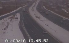 A traffic camera shot of the east and westbound lanes of the E.C. Row Exwy. in Windsor.