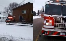 (Photos taken from a video posted to Twitter by @ckfiredept)