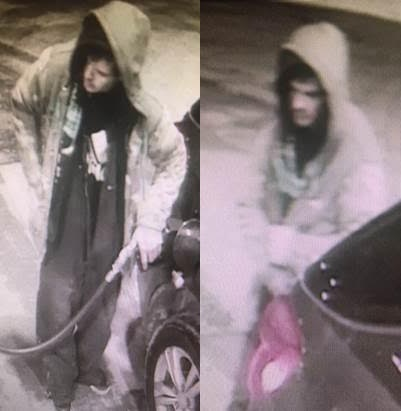 Chatham-Kent police are looking for tips as they work to identify a suspected gas thief. (Photo courtesy of Chatham-Kent police)