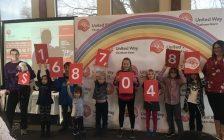 The fundraising total for the United Way Chatham-Kent's 2017 campaign. (Photo courtesy of Amanda Thibodeau)