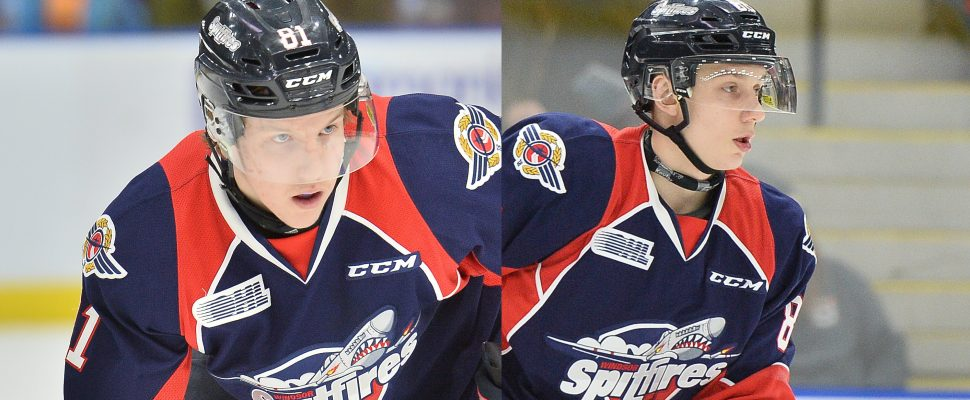 Adam Kadlec and Kirill Kozhevnikov. Photos courtesy of Terry Wilson via OHL Images)