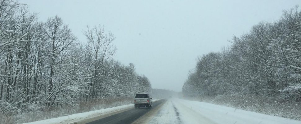 Highway 402 Photo submitted by Melanie Irwin Jan.1,2017