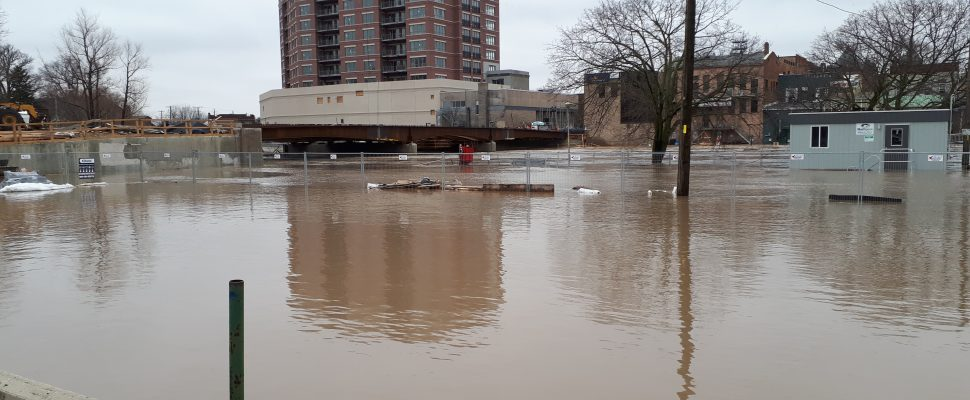 The Thames River in downtown Chatham near the 5th St. Bridge, on February 23, 2018. (Photo courtesy of Andrea Cryderman)