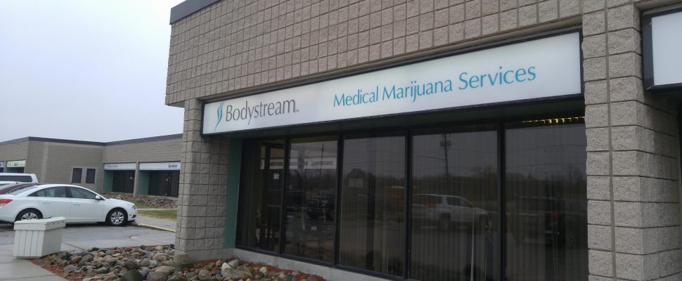 Outside the Sarnia Bodystream location on 836 Upper Canada Dr. February 23, 2018. (Photo by Colin Gowdy, Blackburn News)