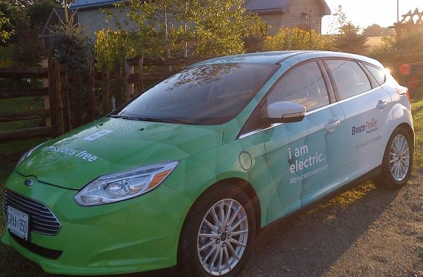 Electric car (Photo courtesy of Bruce Power)