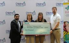 Rexall Foundation presents Children's Treatment Centre Foundation of Chatham-Kent with cheque for $5K. February 21, 2018. (Photo by Sarah Cowan Blackburn News Chatham-Kent).
