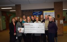 Sertoma Foundation presents $250,000 cheque to CK Children's Treatment Centre Foundation. Feb. 01, 2018. (Photo courtesy of Foundation)
