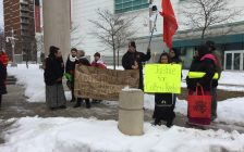 Colten Boushie vigil at Windsor courthouse. Feb 13, 2018. (Photo by Paul Pedro)
