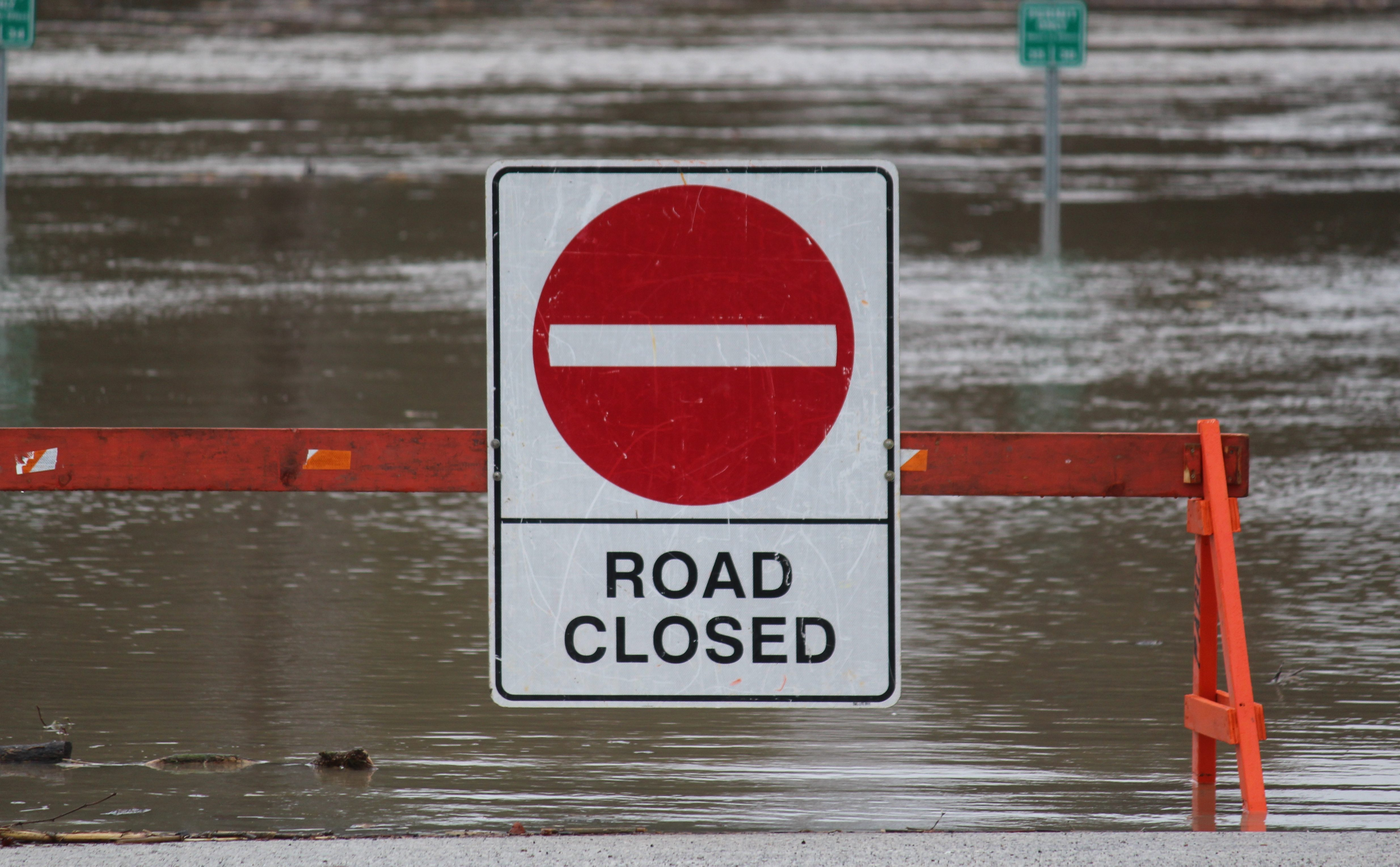 Roads Closing For Flood-Related Issues