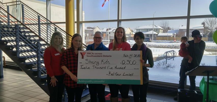 Kel-Gor made another significant donation to kick off the 2018 Strong Kids Campaign. February 14, 2018. (Photo by Colin Gowdy, Blackburn News).