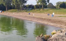 In September 2017, an algal bloom forced the closure of Colchester Beach. (Photo courtesy of the Essex Region Conservation Authority)