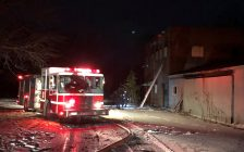 Fire crews respond to a blaze on Stanley Ave. in Chatham on January 31, 2018. (Photo courtesy of Chatham-Kent Fire and Emergency Services)