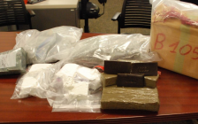 Drugs seized by London police in coordinated raids in London, St. Thomas, and Toronto, February 16, 2018. Photo courtesy of London police.