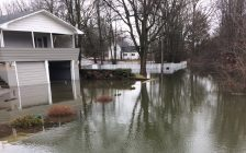 Thamesville flooding. Feb 23, 2018. (Photo by Paul Pedro)